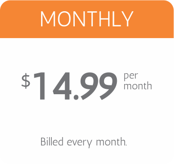monthly pricing $14.99