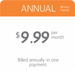 annulay pricing $9.99 per month