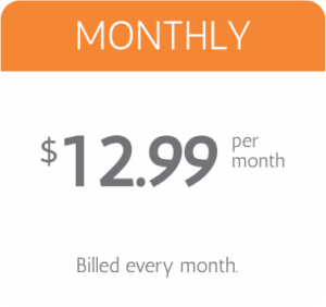 montly pricing $12.99