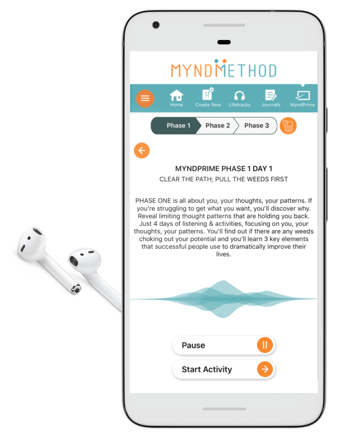 MyndPrime screen